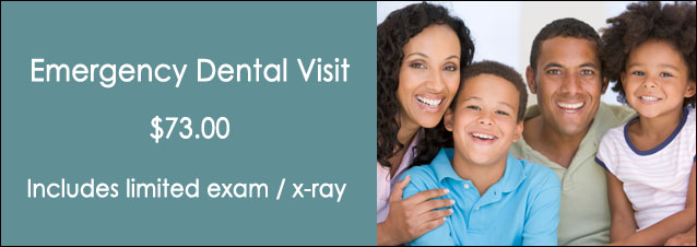 Emergency Dental Visit $49.00 - Includes limited exam and x-ray