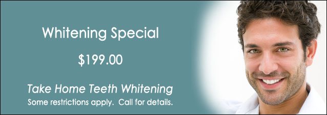 Teeth Whitening Special only $199.00 - Take Home Teeth Whitening Call for Details 772-334-3653
